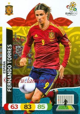 Panini Euro 2012 Cards Adrenalyn XL - N° 075 - Fernando TORRES (Espagne)