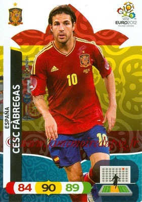 Panini Euro 2012 Cards Adrenalyn XL - N° 070 - Cesc FABREGAS (Espagne)