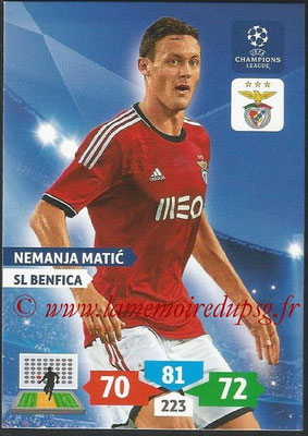 2013-14 - Adrenalyn XL champions League N° 094 - Nemanja MATIC (SL Benfica)
