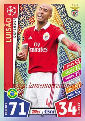 2017-18 - Topps UEFA Champions League Match Attax - N° 203 - LUISAO (SL Benfica) (Defensive Dynamo)