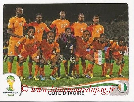 2014 - Panini FIFA World Cup Brazil Stickers - N° 223 - Equipe Côte d'Ivoire