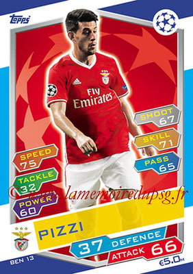 2016-17 - Topps UEFA Champions League Match Attax - N° BEN13 - PIZZI (SL Benfica)