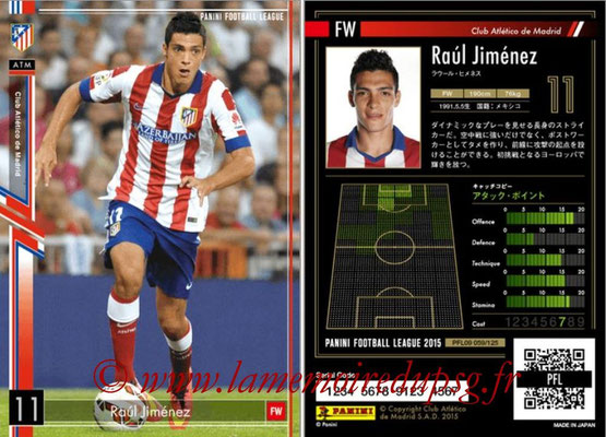 Panini Football League 2015 - PFL09 - N° 059 - Raul JIMENEZ (Atletico Madrid)