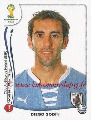 2014 - Panini FIFA World Cup Brazil Stickers - N° 264 - Diego GODIN (Uruguay)