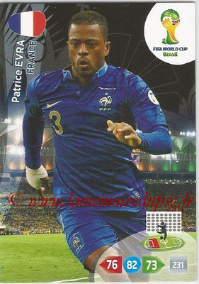 2014 - Panini FIFA World Cup Brazil Adrenalyn XL - N° 159 - Patrice EVRA (France)