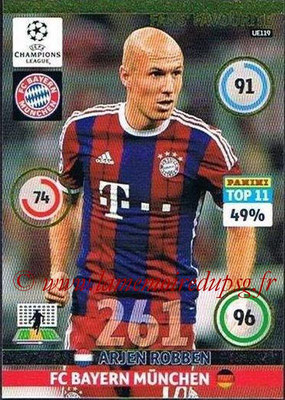 2014-15 - Adrenalyn XL champions League Update edition N° UE119 - Arjen ROBBEN (Bayern Munich) (Fans' Favourite)