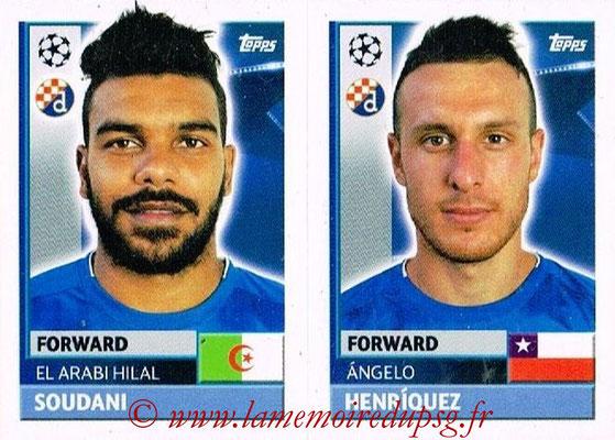 2016-17 - Topps UEFA Champions League Stickers - N° QFC 15-16 - Angelo HENRIQUEZ + EL ARBI HILLEL SOUDANI (GNK Dynamo Zagreb)