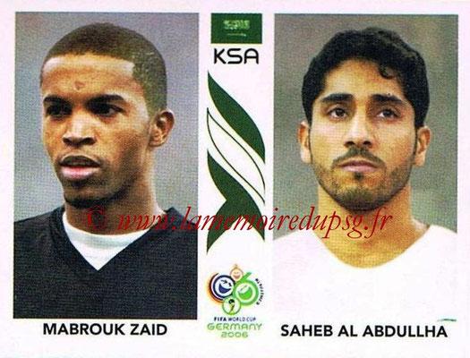 2006 - Panini FIFA World Cup Germany Stickers - N° 589 - Mabrouk ZAID + Saheb AL ABDULLHA (Arabie Saoudite)