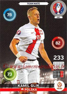 Panini Euro 2016 Cards - N° 247 - Kamil GLIK (Pologne)