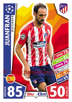 2017-18 - Topps UEFA Champions League Match Attax - N° 039 - JUANFRAN (Club Atletico de Madrid)
