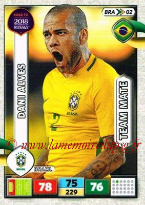 2018 - Panini Road to FIFA World Cup Russia Adrenalyn XL - N° BRA02 - Dani ALVES (Brésil)
