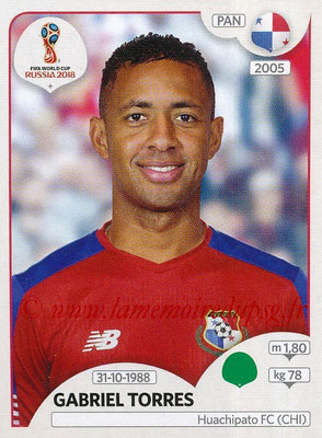 2018 - Panini FIFA World Cup Russia Stickers - N° 549 - Gabriel TORRES (Panama)