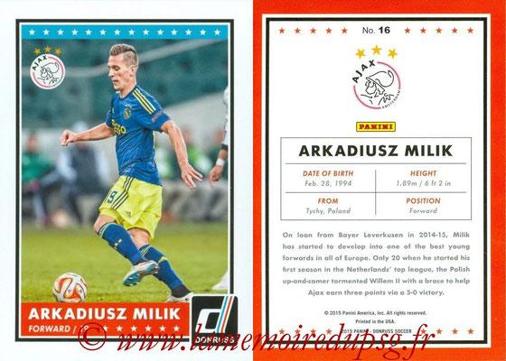 2015 - Panini Donruss Soccer - N° 016 - Arkadiusz MILIK (AFC Ajax)