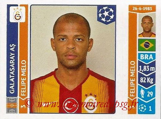 2014-15 - Panini Champions League N° 295 - Felipe MELO (Galatasaray AS)