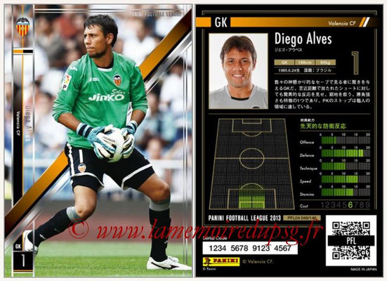 Panini Football League 2013 - PFL04 - N° 049 - Diego ALVES (FC Valence)