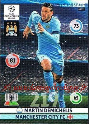 2014-15 - Adrenalyn XL champions League Update edition N° UE055 - Martin DEMICHELIS (Manchester City)