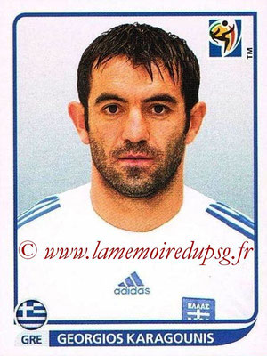 2010 - Panini FIFA World Cup South Africa Stickers - N° 176 - Georgios KARAGOUNIS (Grèce)