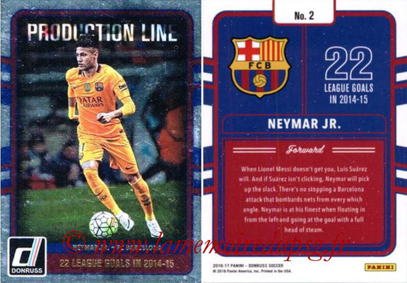 2016 - Panini Donruss Cards - N° PL02 - NEYMAR Jr. (FC Barcelone) (Production Line)