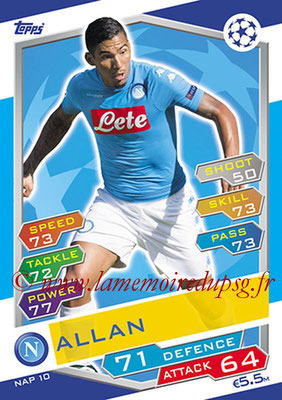 2016-17 - Topps UEFA Champions League Match Attax - N° NAP10 - ALLAN (SSC Naples)