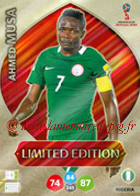 2018 - Panini FIFA World Cup Russia Adrenalyn XL - N° LE-AMU - Ahmed MUSA (Nigeria) (Limited Edition)