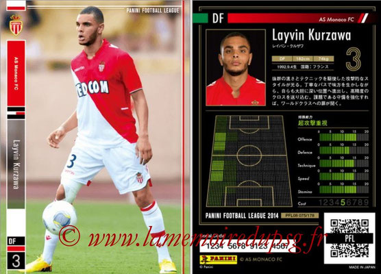 Panini Football League 2014 - PFL08 - N° 075 - Layvin KURZAWA (AS Monaco)