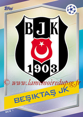2016-17 - Topps UEFA Champions League Match Attax - N° BES1 - Logo Besiktas JK