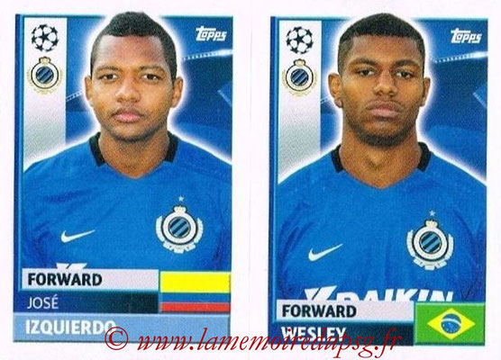 2016-17 - Topps UEFA Champions League Stickers - N° BRU 16-17 - Wesley FORWARD + José IZQUIERDO (Club Bruges)