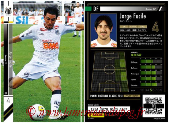 Panini Football League 2013 - PFL01 - N° 102 - Jorge Fucile ( Santos FC )