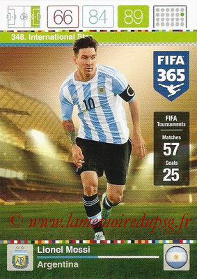 2015-16 - Panini Adrenalyn XL FIFA 365 - N° 348 - Lionel MESSI (Argentine) (International Star)