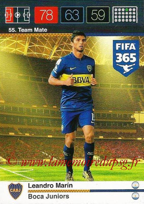 2015-16 - Panini Adrenalyn XL FIFA 365 - N° 055 - Leandro MARIN (Boca Juniors) (Team Mate)