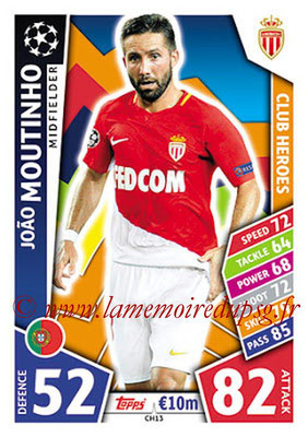 2017-18 - Topps UEFA Champions League Match Attax - N° CH13 - Joao MOUTINHO (AS Monaco) (Club Heroes)