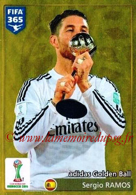 2015-16 - Panini FIFA 365 Stickers - N° 033 - Sergio RAMOS (Golden Ball) (FIFA Club World Cup)
