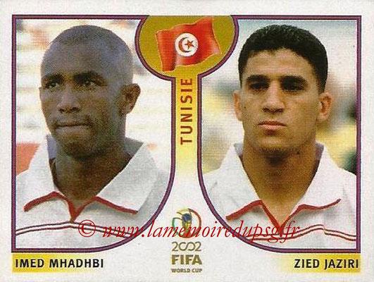 2002 - Panini FIFA World Cup Stickers - N° 575 - Imed MHADHBI + Zied JAZIRI (Tunisie)