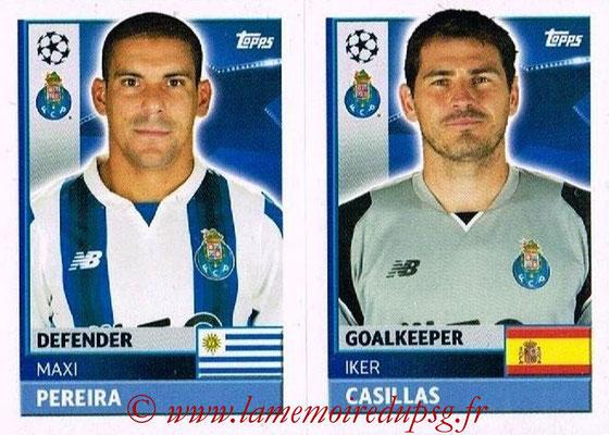 2016-17 - Topps UEFA Champions League Stickers - N° QFJ 3-4 - Iker CASILLAS + Maxi PEREIRA (FC Porto)