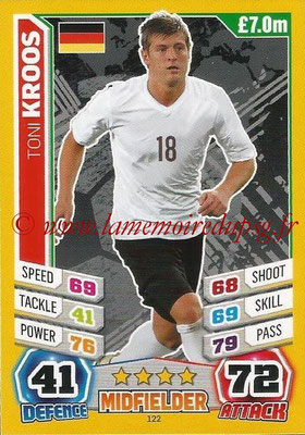 Topps Match Attax England 2014 - N° 122 - Toni KROOS (Allemagne)