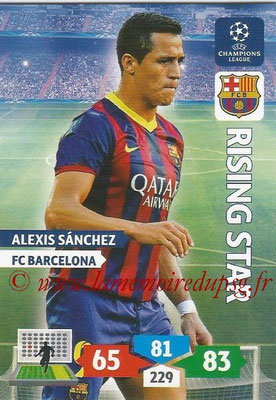 2013-14 - Adrenalyn XL champions League N° 071 - Alexis SANCHEZ (FC Barcelone) (Rising Star)
