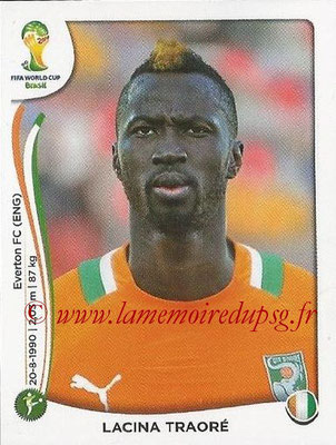 2014 - Panini FIFA World Cup Brazil Stickers - N° 239 - Lacina TRAORE (Côte d'Ivoire)
