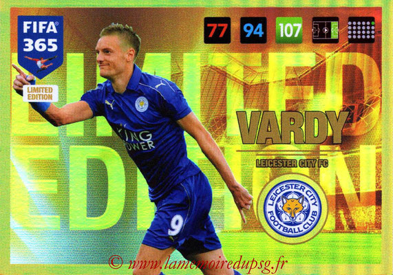 2016-17 - Panini Adrenalyn XL FIFA 365 - N° LE05 - Jamie VARDY (Leicester City FC) (Limited Edition)