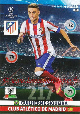 2014-15 - Adrenalyn XL champions League N° 058 - Guilherme SIQUEIRA (Atletico Madrid)