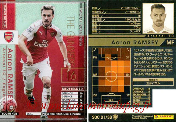 2015-16 - Panini WCCF - N° SOC01 - Aaron RAMSEY (Arsenal FC) (Stars Of The Club)