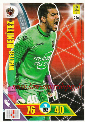 2017-18 - Panini Adrenalyn XL Ligue 1 - N° 246 - Walter BENITEZ (Nice)