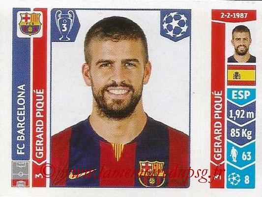 2014-15 - Panini Champions League N° 419 - Gerrard PIQUE (FC Barcelone)