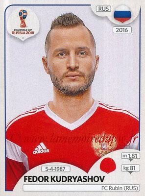 2018 - Panini FIFA World Cup Russia Stickers - N° 038 - Fedor KUDRYASHOV (Russie)