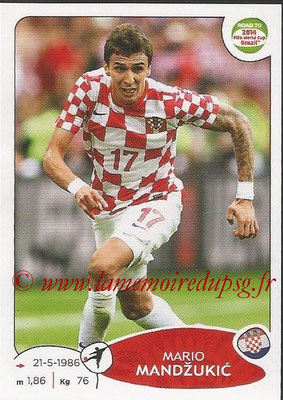 2014 - Panini Road to FIFA World Cup Brazil Stickers - N° 298 - Mario MANDZUKIC (Croatie)