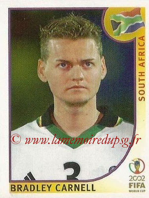 2002 - Panini FIFA World Cup Stickers - N° 156 - Bradley CARNELL (Afrique du Sud)