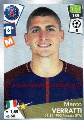 2017-18 - Panini Ligue 1 Stickers - N° 381 - Marco VERRATTI (Paris Saint-Germain)