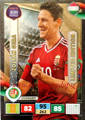 2018 - Panini Road to FIFA World Cup Russia Adrenalyn XL - N° LE-ZG - Zoltan GERA (Hongrie) (Limited Edition)