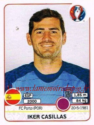 Panini Euro 2016 Stickers - N° 353 - Iker CASILLAS (Espagne)