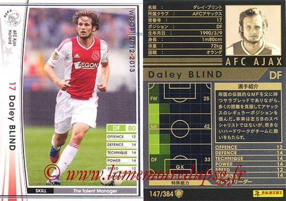 2012-13 - WCCF - N° 147 - Daley BLIND (AFC Ajax)