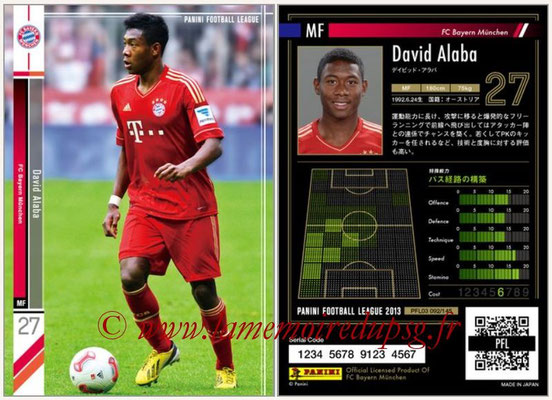 Panini Football League 2013 - PFL03 - N° 092 - David Alaba (Bayern Munich)